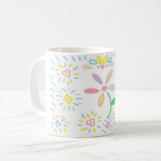 Simple Flower Design Mug