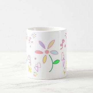 Simple Flower Design Mug