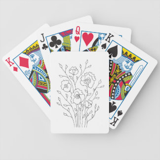 Simple Flowers Bicycle Playing Cards