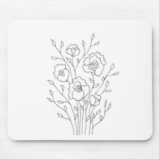 Simple Flowers Mouse Pad