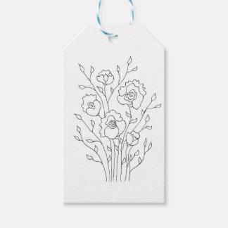 Simple Flowers Pack Of Gift Tags
