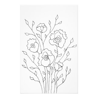 Simple Flowers Stationery Paper