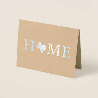 Simple Foil Texas State Home Greeting Card