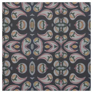 Simple Folk Floral & Paisley Pattern Fabric