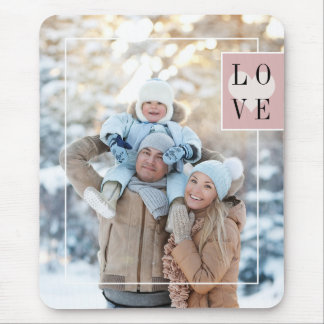 Simple Frame Add your Photo with Love Mouse Pad