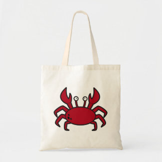 Simple funny cartoon red crab budget tote bag