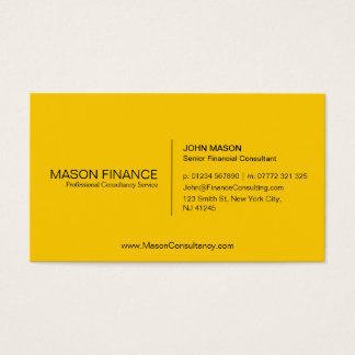 Simple Generic Yellow Business Card