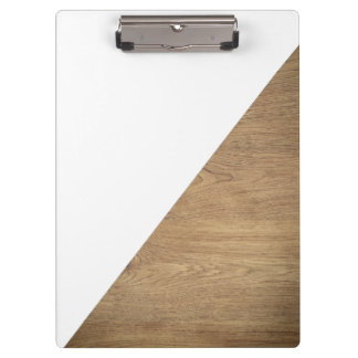 Simple Geometric White Wooden Professional Photo Clipboard