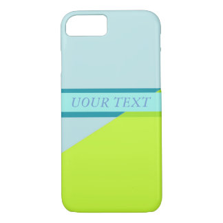 simple geometry pastel lime and blue case