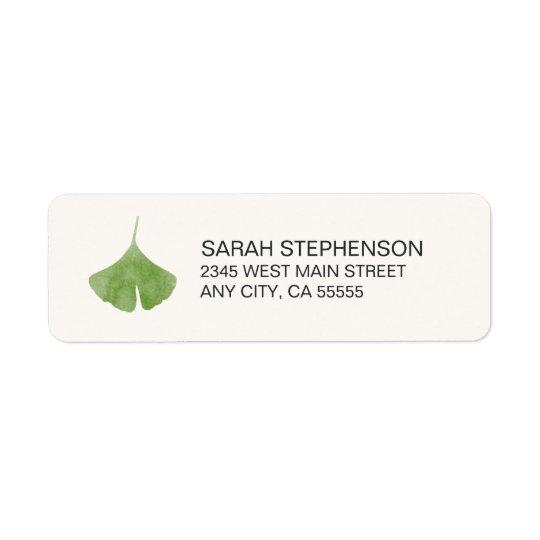 Simple Ginkgo Leaf Nature Return Address Labels