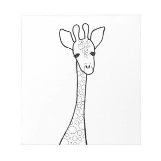 Simple Giraffe Notepad