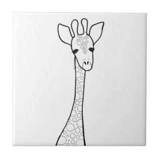 Simple Giraffe Tile
