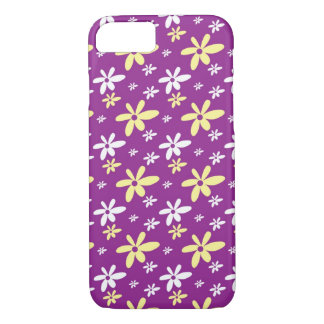 Simple Girly Ditsy Floral Pattern : Purple iPhone 7 Case