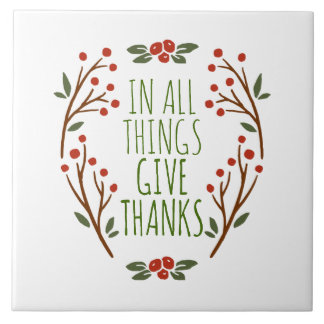 Simple Give Thanks Thanksgiving | Ceramic Tile