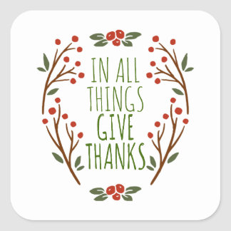 Simple Give Thanks Thanksgiving | Sticker Seal