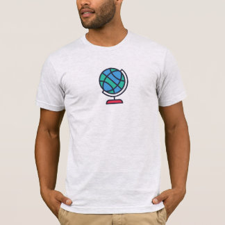 Simple Globe Icon Shirt