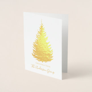 Simple Gold Foil Pine Tree with Signature Foil Card