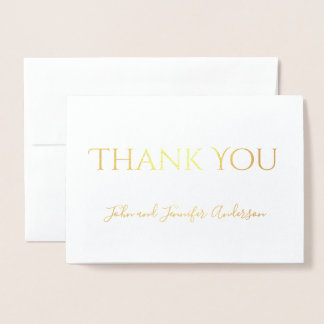 Simple Gold Foil Thank You with Signature Foil Card