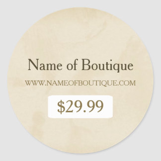 Simple Gold Grunge Modern Boutique Price Tags