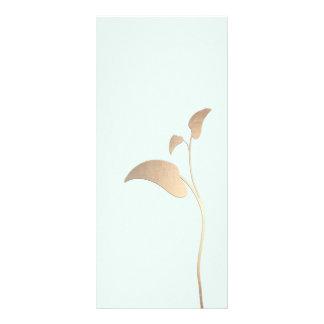 Simple Gold Leaf Light Blue Rack Card