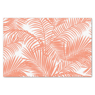 Simple gold tropical coral chic palm tree floral tissue paper