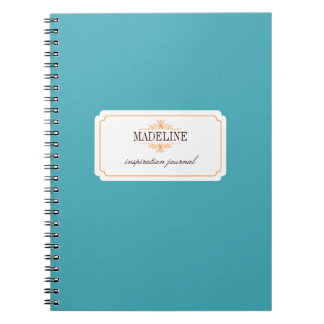 Simple grace orange teal blue inspiration journal note books