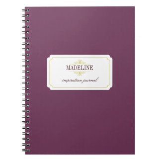 Simple grace purple green inspiration journal notebooks