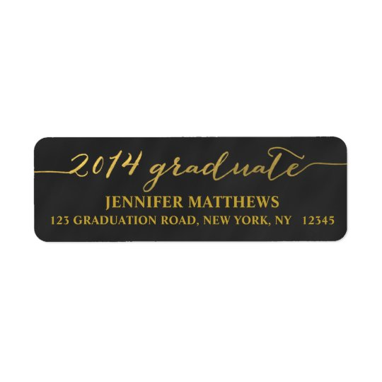 Simple Grad Chalkboard | Graduation Address Label