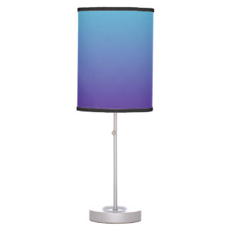 Simple Gradient Background Purple Turquoise Blue Table Lamp