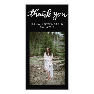 Simple Graduate Handwritten Thank You Photo Card