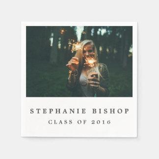 Simple Graduate Photo Paper Napkins