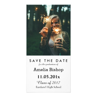 Simple Graduate Photo Save The Date Personalized Photo Card