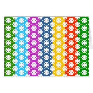 Simple Graphics - Exotic Happy Patterns Greeting Card