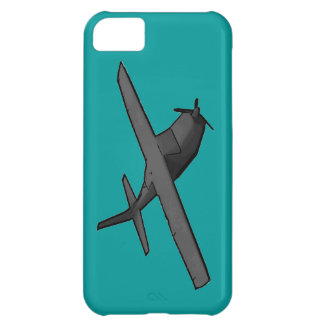 Simple gray propeller plane hobby iphone 5 case