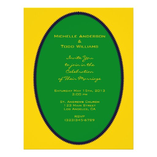Simple Green Circle Wedding Personalized Flyer