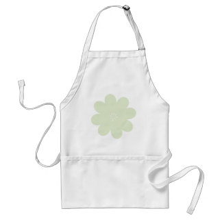 Simple Green Flower Standard Apron