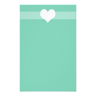 Simple Green Heart Stationary Stationery