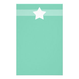 Simple green star Stationary Stationery Paper