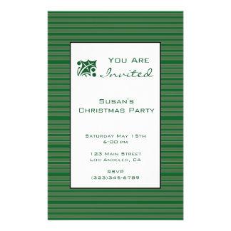 Simple Green Stripe Christmas Full Color Flyer