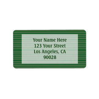 Simple Green Stripes Label