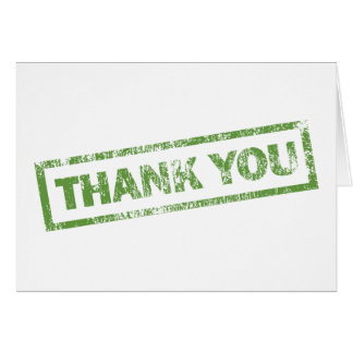 Simple Green Thank You Note Card