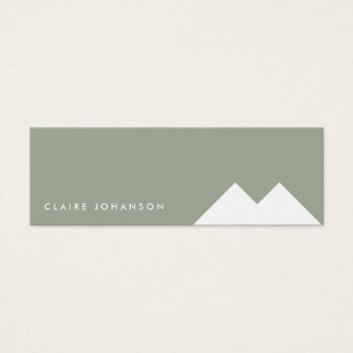 Simple green white minimal environment visit card