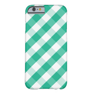 Simple Green white St Patrick gingham pattern Barely There iPhone 6 Case