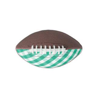 Simple Green white St Patrick gingham pattern Football