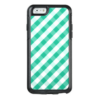 Simple Green white St Patrick gingham pattern OtterBox iPhone 6/6s Case