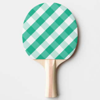 Simple Green white St Patrick gingham pattern Ping Pong Paddle