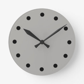 Simple Grey Clock with Black hour marks and hands