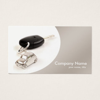 Simple Grey Curve Car Rental Business Card