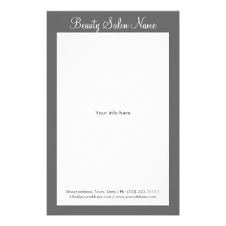 Simple Grey Hair Stylist/Cosmetologist Price List Personalized Flyer