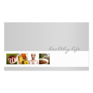 Simple Grey Minimalistic Nutrition Coach Card Pack Of Standard Business Cards